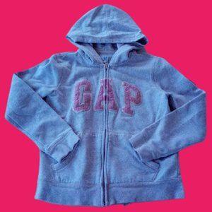 GAP Beige Zip Up Hooded Sweater Girl XL